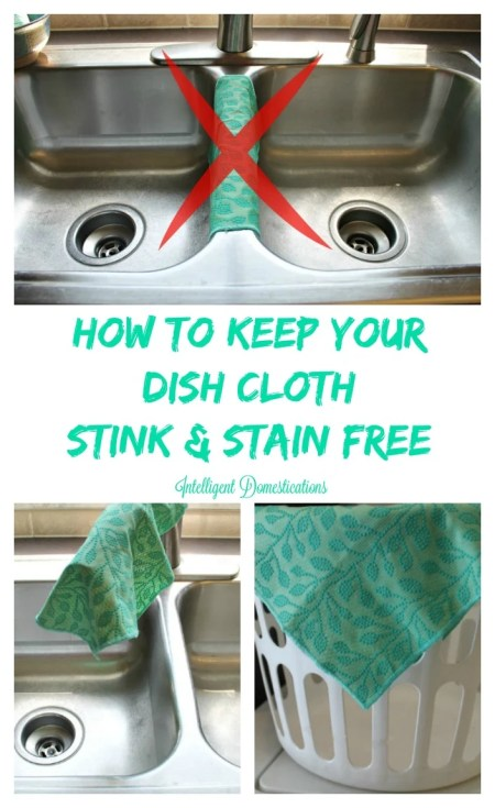 How To Keep Your Dish Cloth Stink & Stain Free