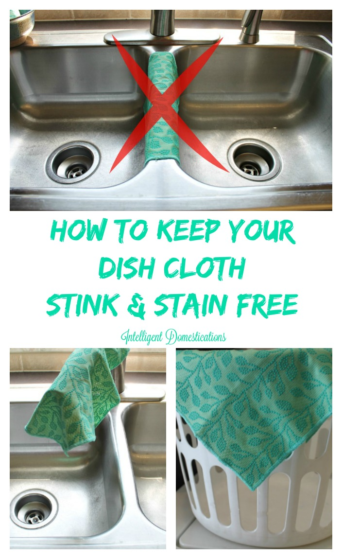How To Keep Your Dish Cloth Stink and Stain Free. It's easier than you think