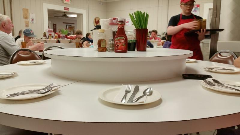 Lazy-Susan Tables at Buckner's Family Restaurant