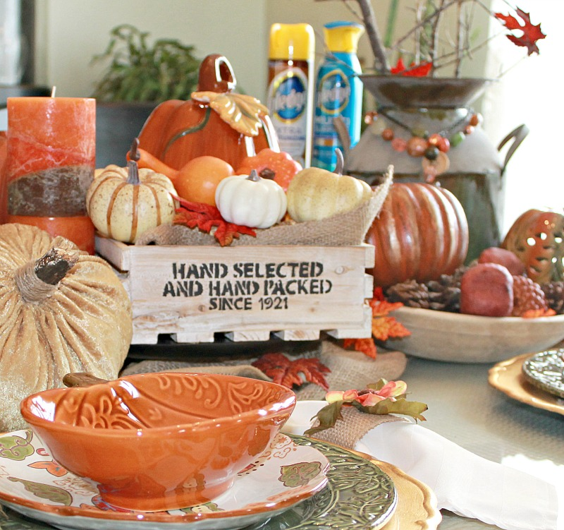Pledge® is my favorite for keeping my Farmhouse Style Tablescape clean throughout the fall season #PledgeReflectionOfYou