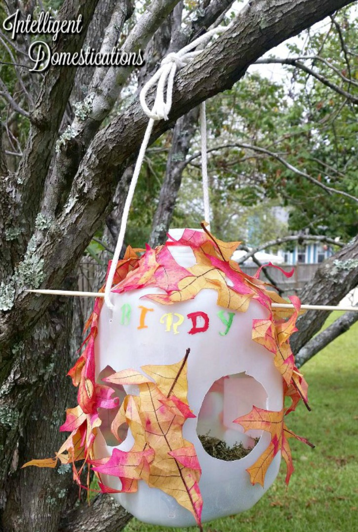 how-to-make-milk-jug-bird-houses-using-craft-room-stash-items-we-let-the-children-be-as-creative-as-they-wanted-to-be-with-the-supplies-we-had-on-hand-intelligent-domestications