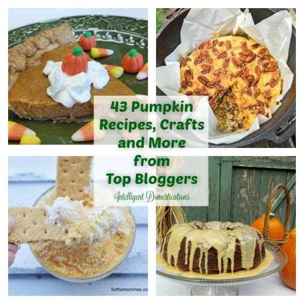 43 Pumpkin Ideas including Recipes, Crafts and more