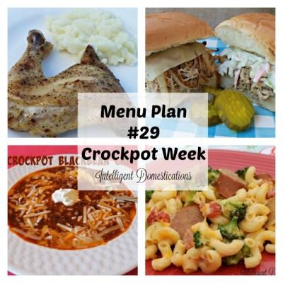 Menu Plan 29 Crockpot Week