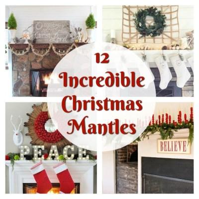 12 Incredible Christmas Mantles