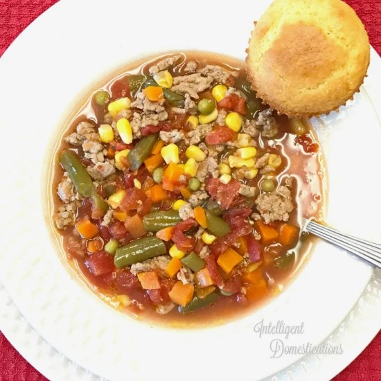 Homemade Vegetable Soup recipe. Make Vegetable Beef soup from scratch with our easy recipe. #soup