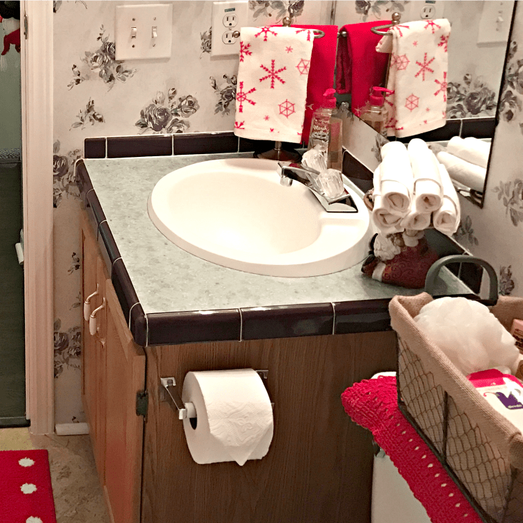 Cool If you are anything like me the guest bath gets extra attention in preparation for guests I get excited about doing a little holiday decor update