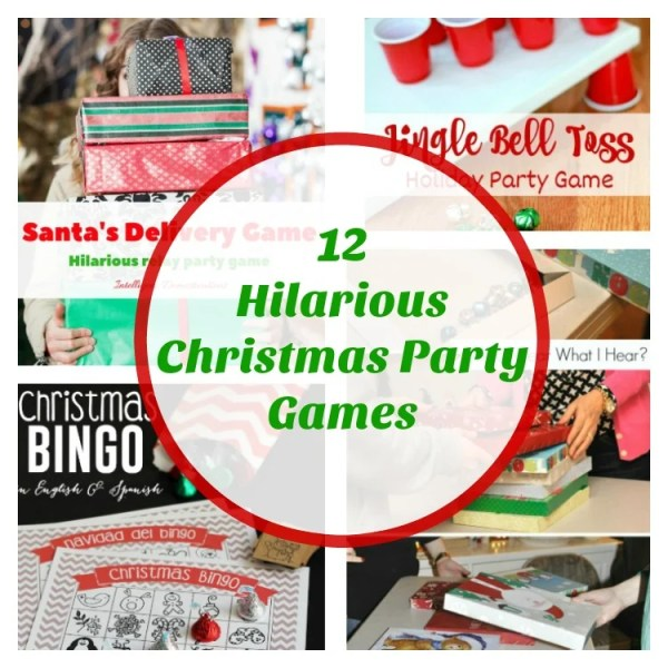 12 Hilarious Christmas Party Games. Christmas Party Game Ideas for family and friends.