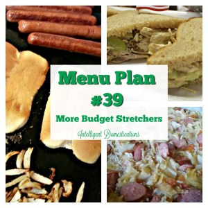 Menu Plan #39 More Budget Stretchers