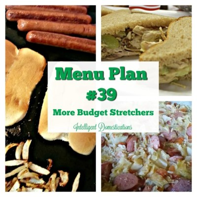 Menu Plan #39 More Budget Stretcher Savings