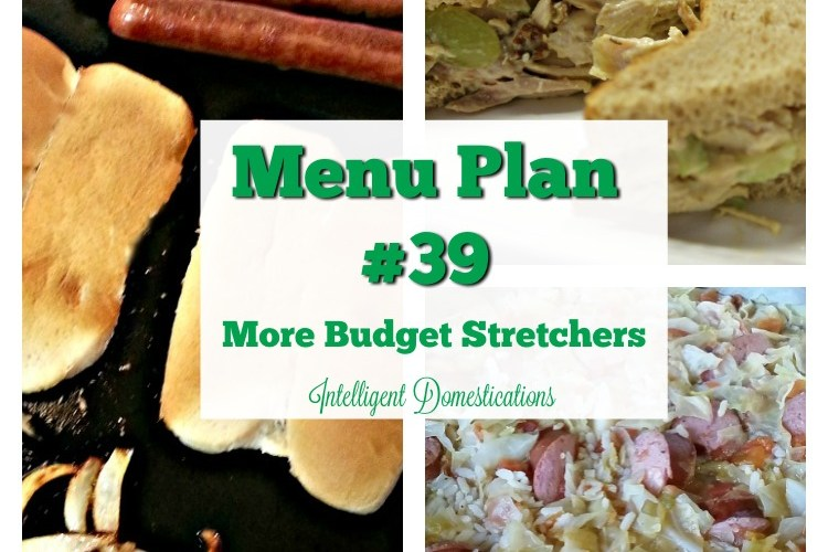 Menu Plan #39 More Budget Stretcher Savings
