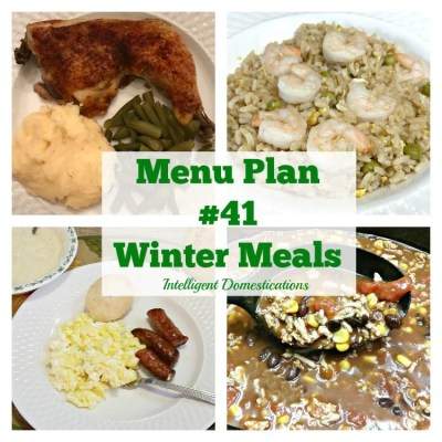 Menu Plan #41 Winter Meals