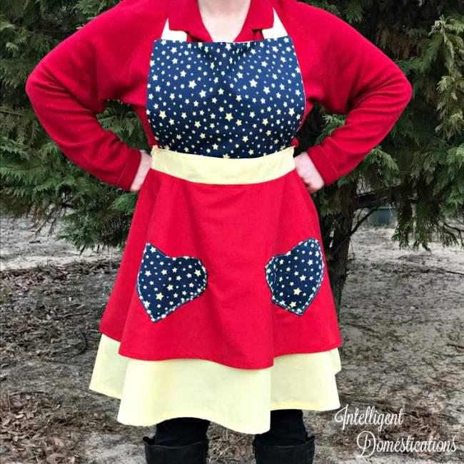 DIY Super Mom Sewing Apron tutorial