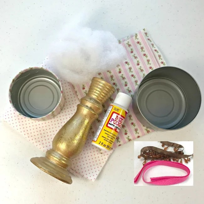 Supplies for a Two Tier Pin Cushion
