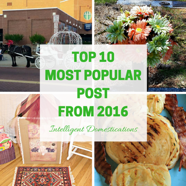 To 10 Most Popular Posts of 2016 at intelligentdomestications.com