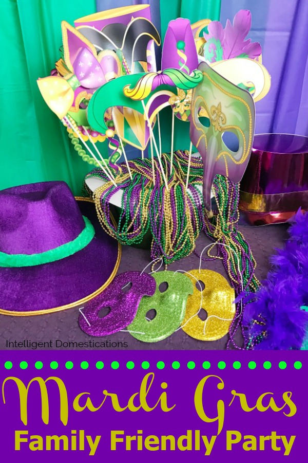 Mardi Gras Party photo booth props