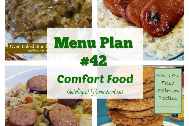 Menu Plan #42 Comfort Food