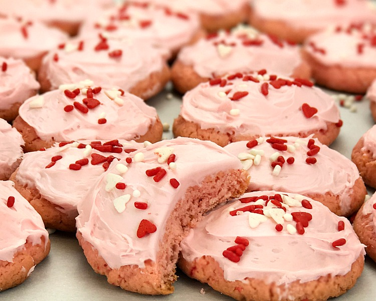 Strawberry Cake Mix Cookie are so easy to make and a perfect treat for special occasions like Valentines Day.Intelligent Domestications
