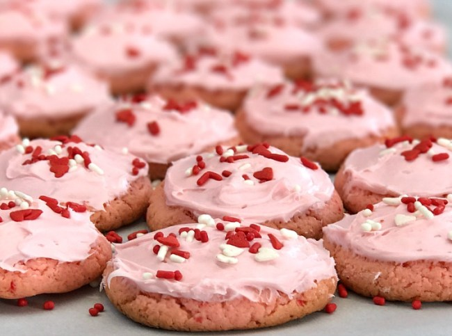 Soft and Chewy Strawberry Cake Mix Cookies