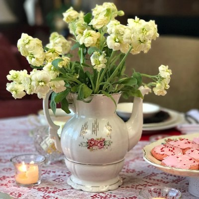 Vintage Valentine's Tablescape