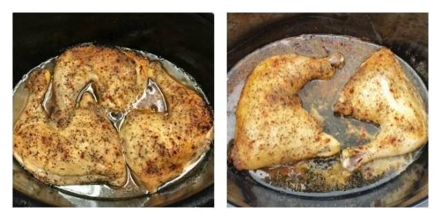 Easy recipe for Crockpot Leg Quarters. Zesty Italian Leg Quarters Crockpot recipe for an easy and affordable weeknight meal. #Crockpotrecipe #chickenrecipe
