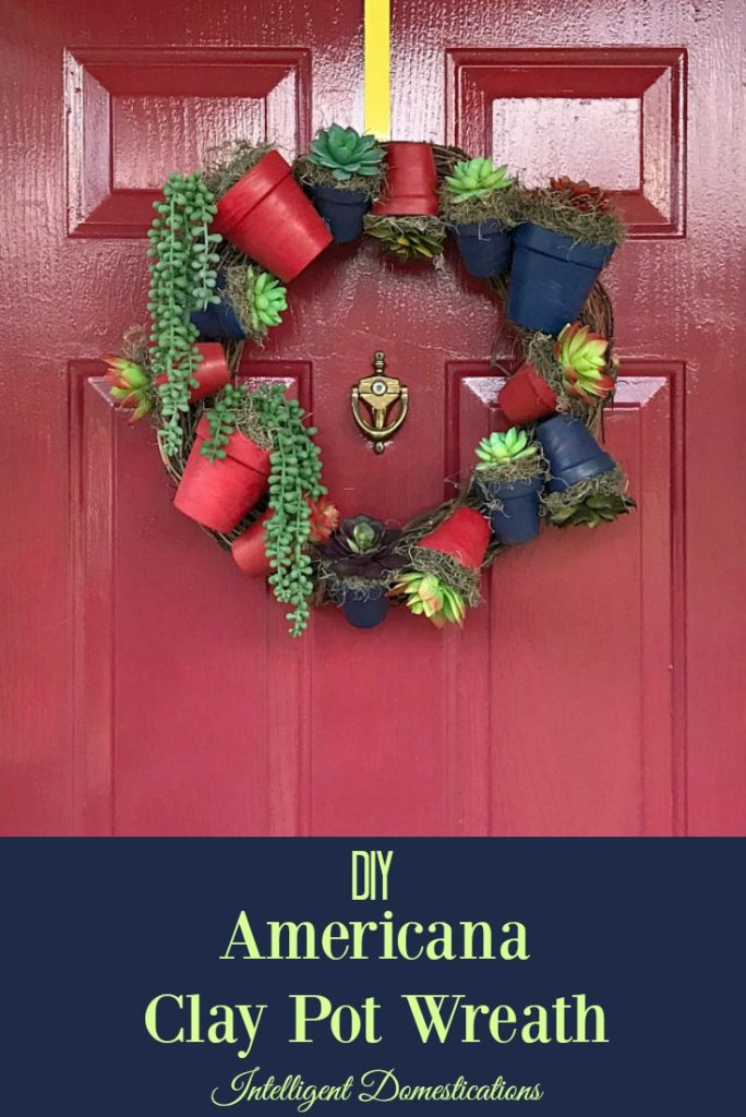 How to make an Americana Clay Pot Wreath