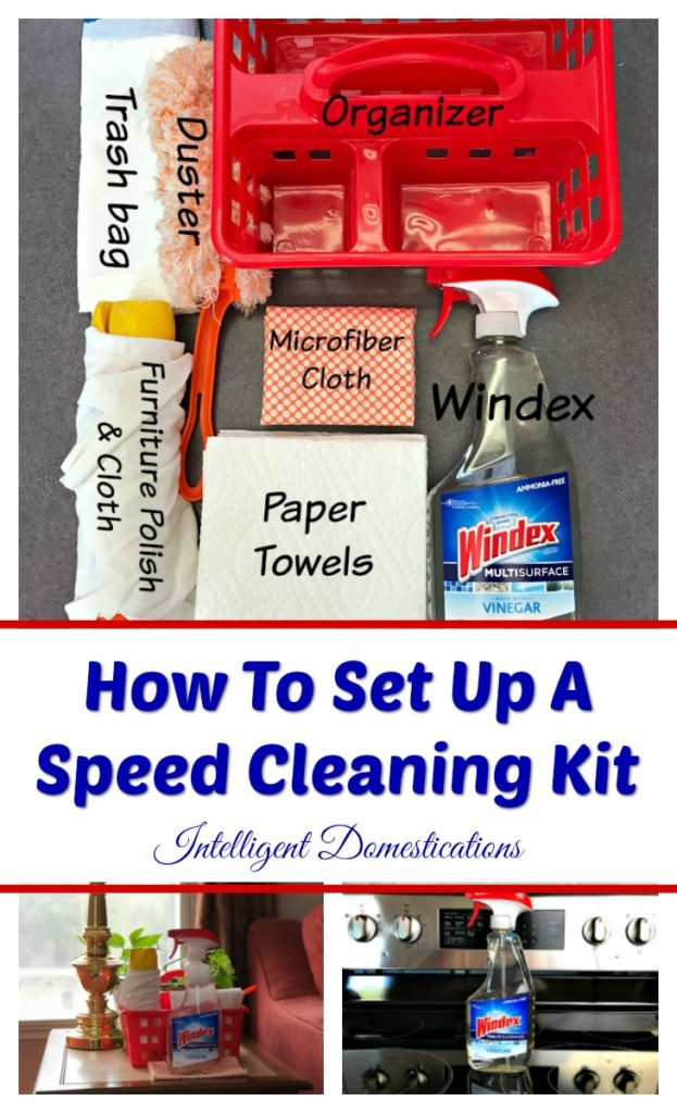 How to set up a speed cleaning kit for your home.
