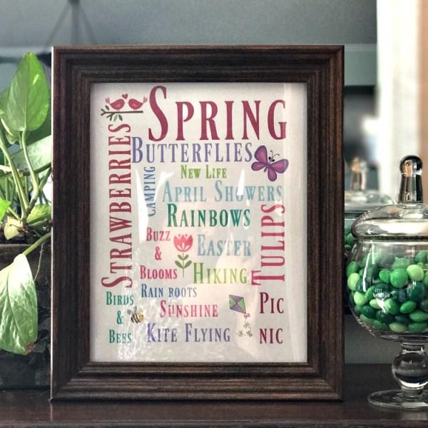 Free Printable Spring Subway Art