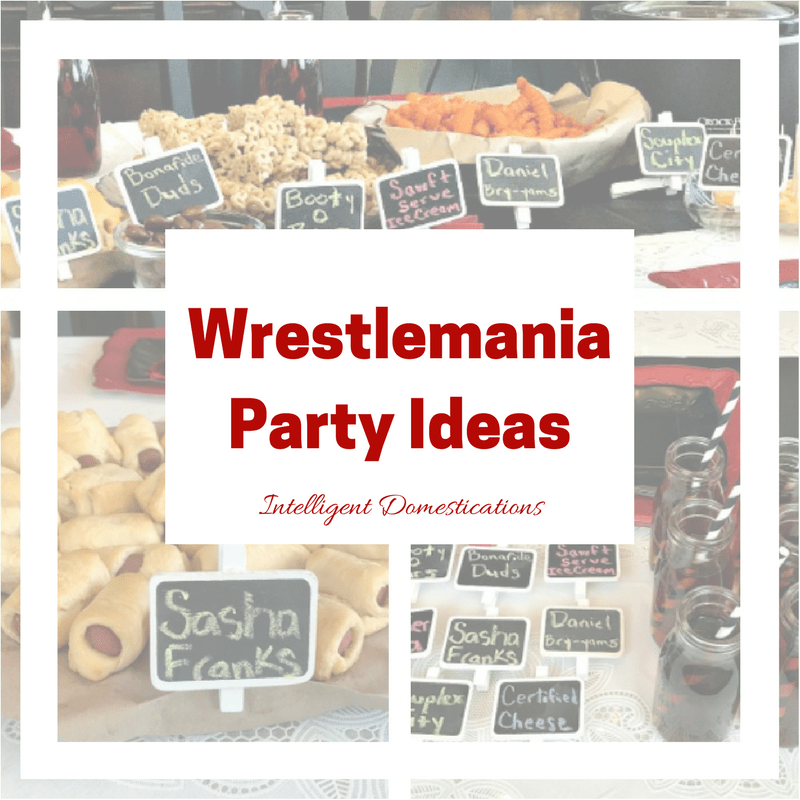 WWE Party with Pun Name Food
