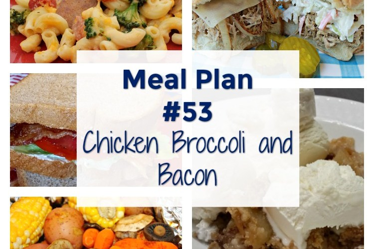 Meal Plan #53. Chicken Broccoli and Bacon on the menu this week