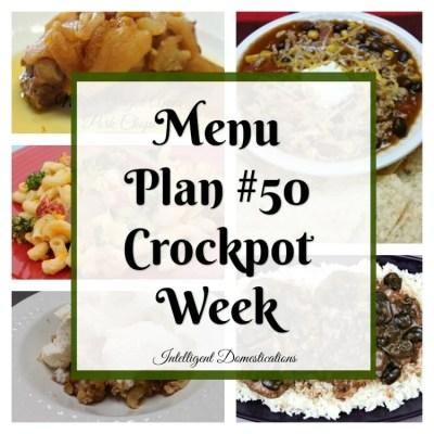 Meal Plan #50 Ball Season Crockpot Week