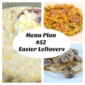 Menu Plan 352 Easter Leftovers