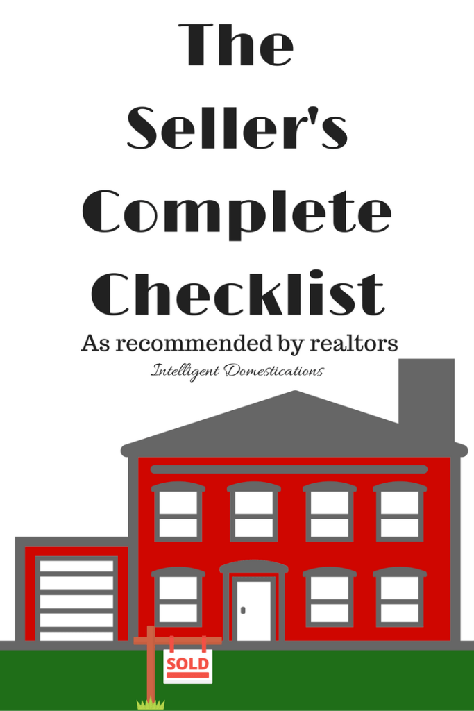 Seller's Complete Checklist of things to do when preparing your house for sale