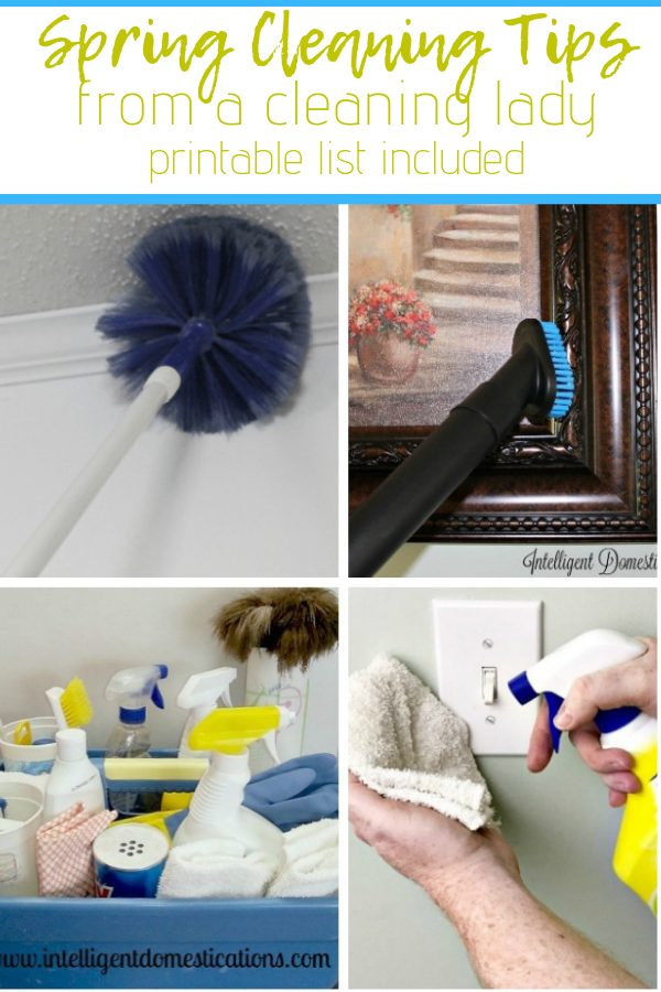 After cleaning homes professionally for more than 20 years, we developed a few tips and tricks. Cleaning can become a dreaded task. Use our tried and tested tips to take the drudgery out of spring cleaning your own home. Free printable Spring Cleaning Checklist included. We talk about the Tools, Cleaners and how to make the day less boring. #springcleaning #cleaning