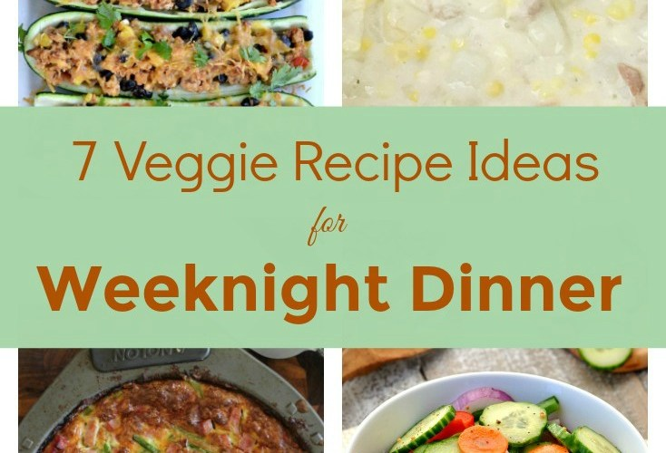 7 Veggie Recipes for Weeknight Dinner & Merry Monday Link Party #150