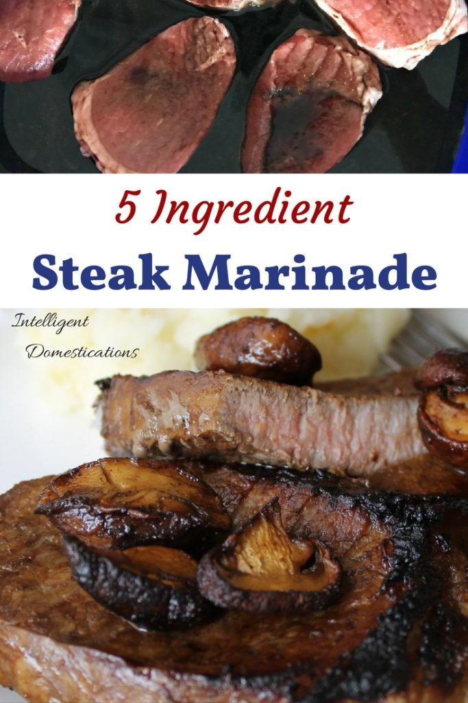 Steak Marinade recipe. Our Steak Marinade recipe uses only 5 ingredients which you probably have in your kitchen. 5 Ingredient Steak Marinade recipe.