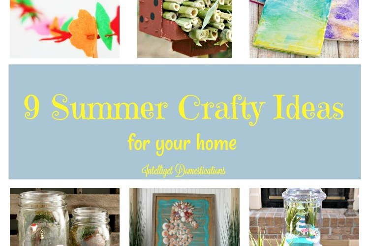 9 Summer Crafty Ideas and Merry Monday Link Up Party #164