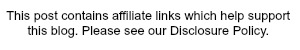 This post contains affiliate links. Please read our Disclosure policy for details.