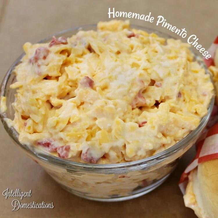 Homemade Pimento Cheese recipe. Easy recipe for making homemade pimento cheese spread.