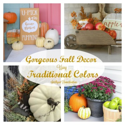 Home Decor Using Traditional Fall Colors & Merry Monday #173