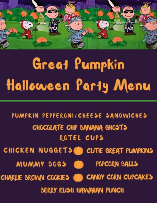 Our Peanuts®️️️️️️Great Pumpkin Halloween party was super fCharlie Brown Theme Halloween party ideas for a not so scary Halloween. Includes Free printable invitations, the food we served and our not so scary Halloween party decorations. ad #charliebrown #halloween #halloweenparty