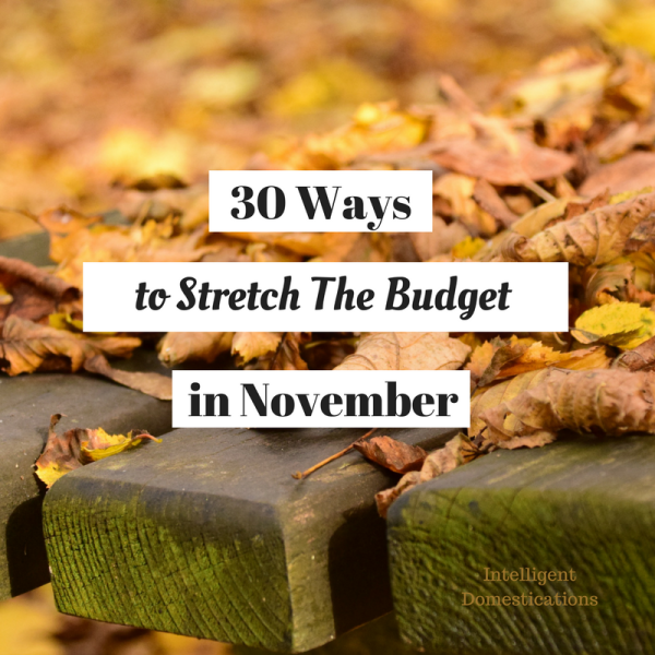 30 Ways to Stretch the Budget in November. How to cut expenses and stretch your money during the holiday season.