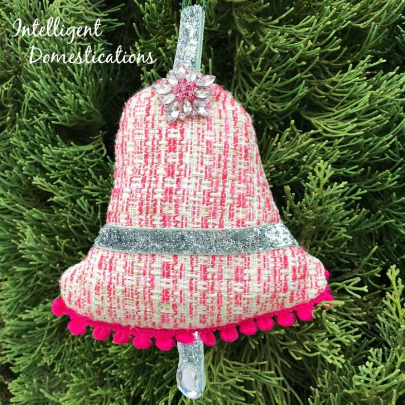 Pink Fabric Bell ornament for the Christmas Tree