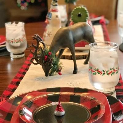 Buffalo Plaid Christmas Table Setting