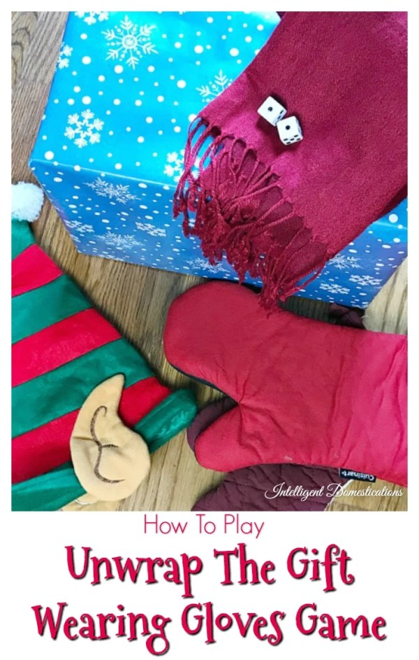 How To Play The Unwrap The Gift Wearing Gloves Game. Unwrap the Gift Game. How to play unwrap the gift game. Christmas party game ideas. #Christmaspartygames #Christmas #partygames