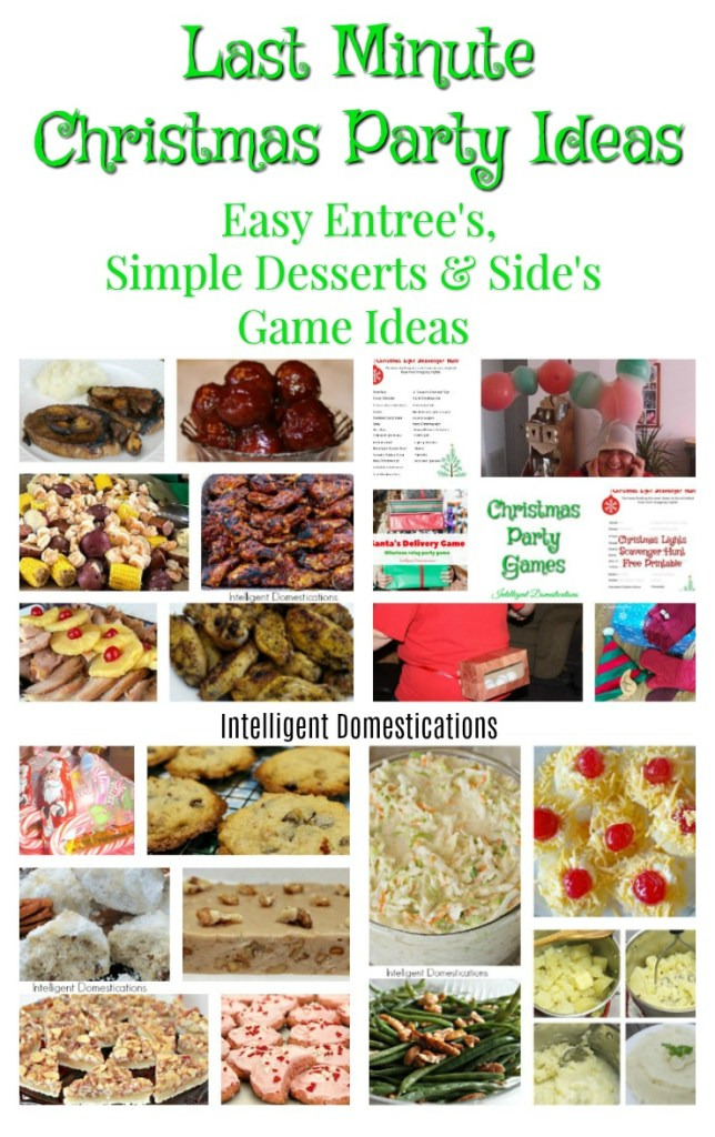Last minute christmas party recipes game ideas for Last minute party food