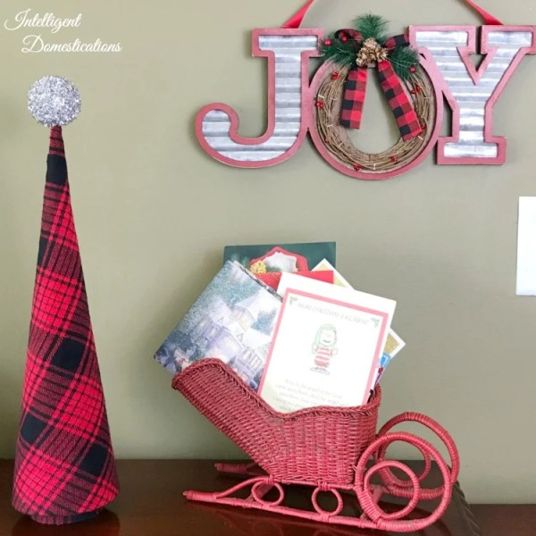 Diy Cone Christmas Trees.Diy Plaid Cone Christmas Tree Intelligent Domestications