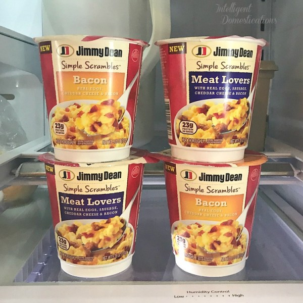 Jimmy Dean Simple Scrambles. Quick and easy protein rich breakfast on the go.