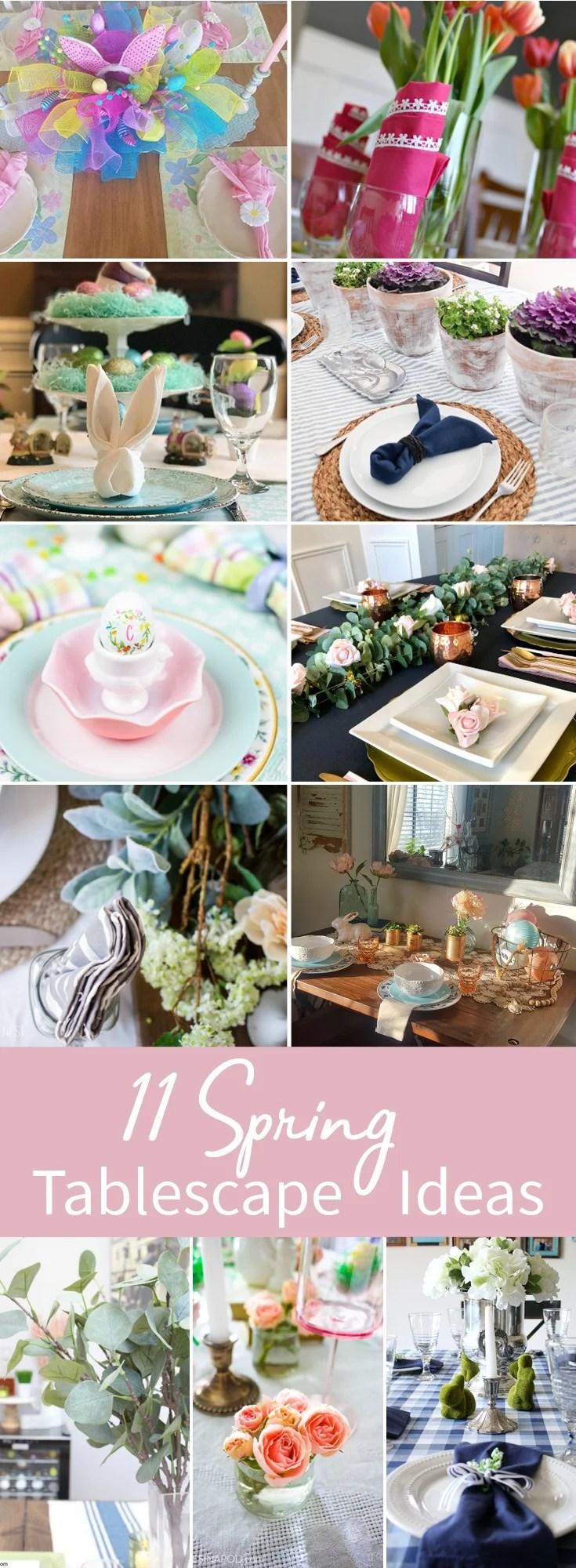 11 Spring Tablescape Ideas. Spring Table Decoration Ideas