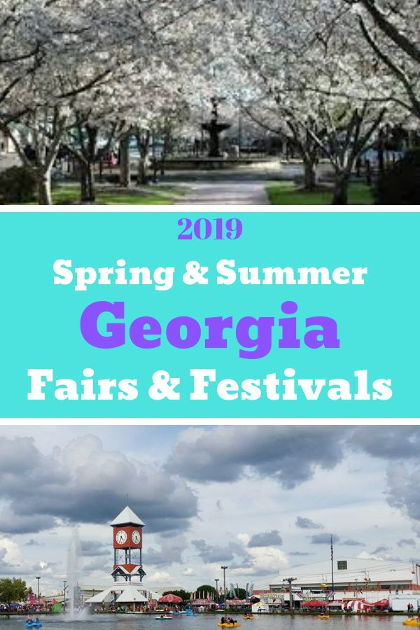 2019 Fairs and Festivals in Georgia USA #springfestivals #summerfestivals #exploregeorgia