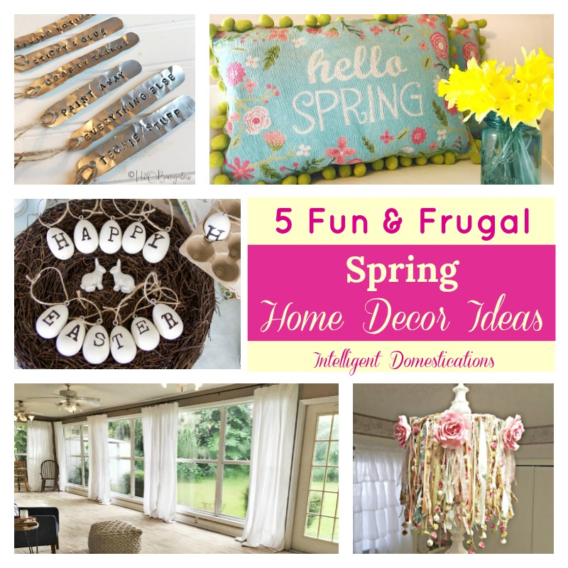 Frugal Home Decorating Ideas Part - 50: 5 Fun And Frugal Spring Home Decor Ideas. Spring DIY Home Decor Ideas. DIY